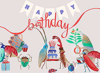 Birthday ecards animated happy birthday ecards by ojolie insect birthday parade bookmarktalkfo Images
